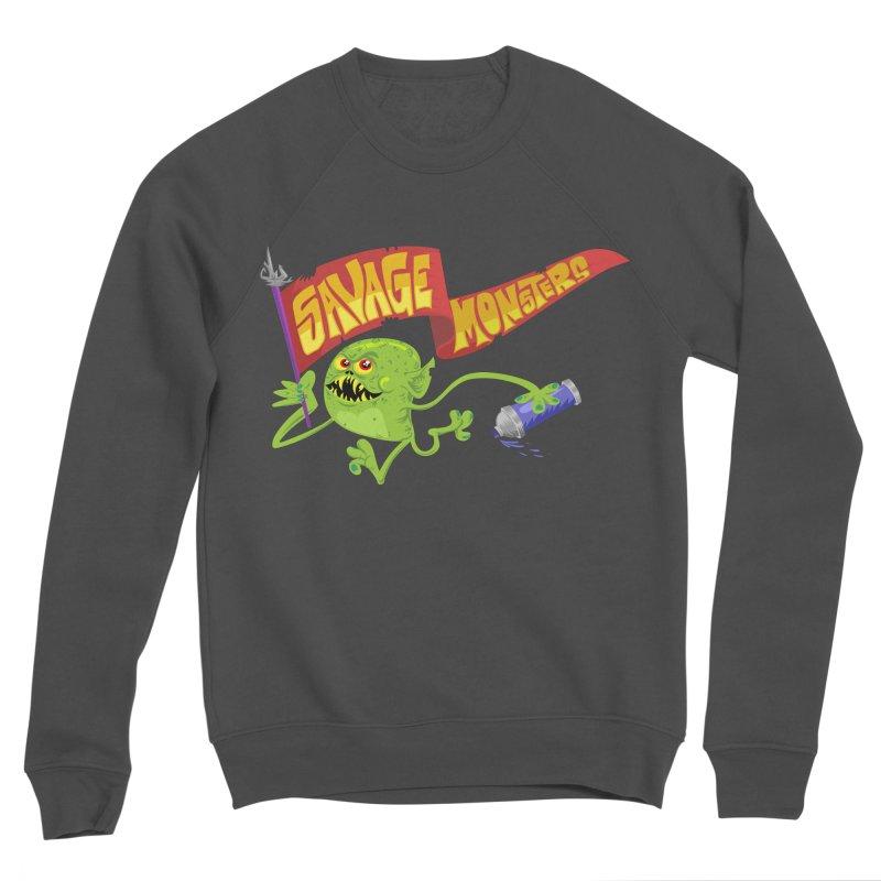 Clarence with Banner Men's Sponge Fleece Sweatshirt by SavageMonsters's Artist Shop