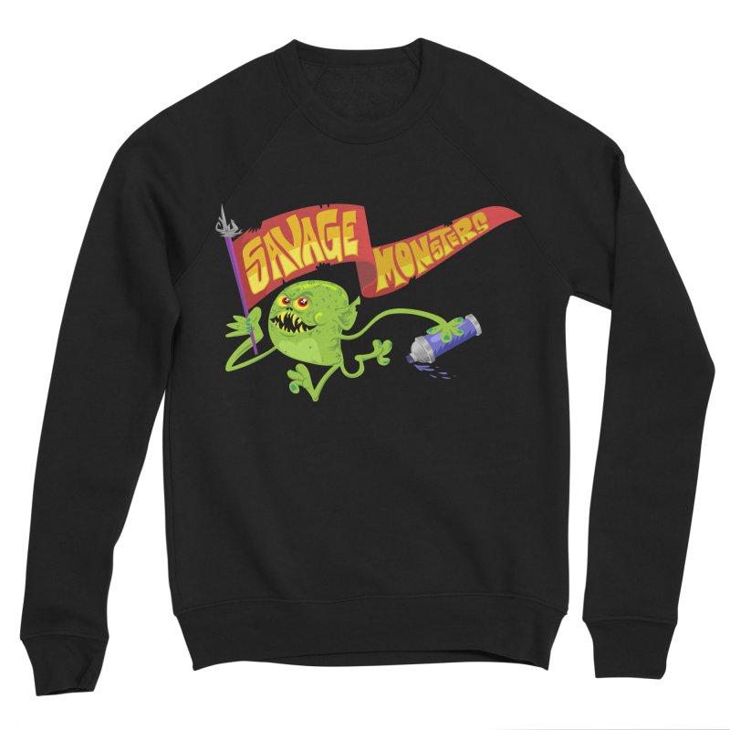 Clarence with Banner Women's Sponge Fleece Sweatshirt by SavageMonsters's Artist Shop