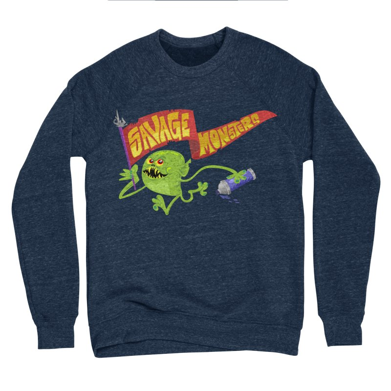 Clarence with Banner Men's Sponge Fleece Sweatshirt by SavageMonsters's Artist Shop