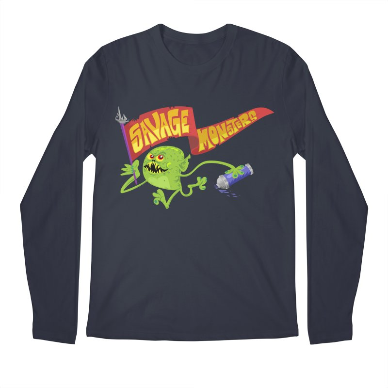 Clarence with Banner Men's Longsleeve T-Shirt by SavageMonsters's Artist Shop