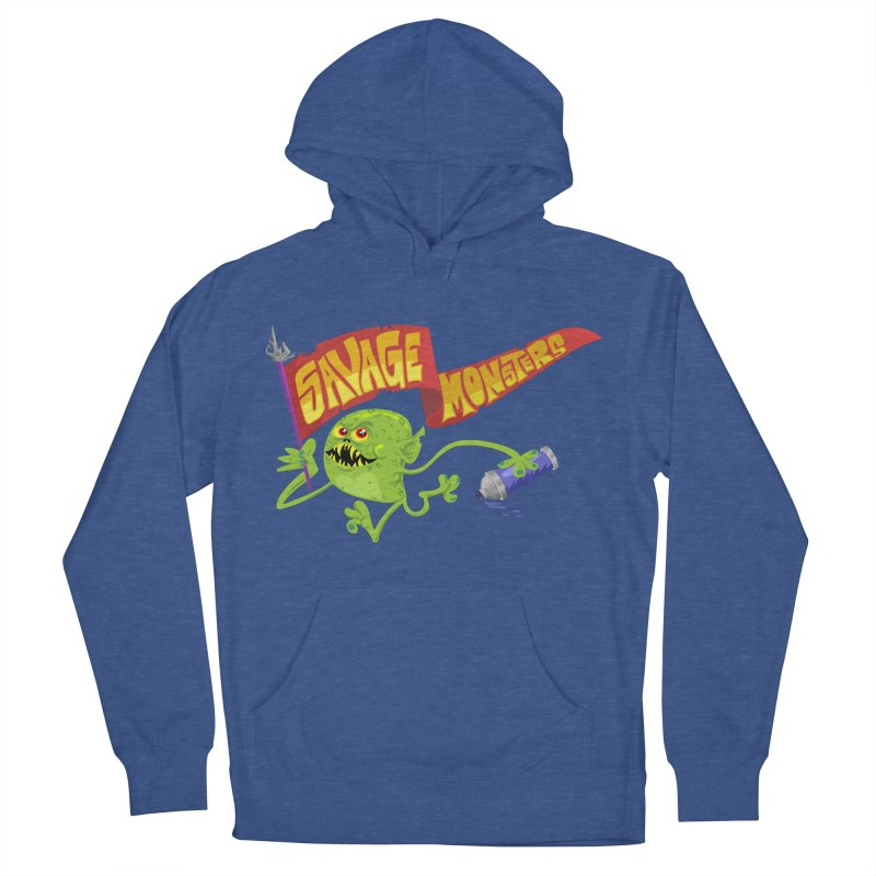 Clarence with Banner Men's French Terry Pullover Hoody by SavageMonsters's Artist Shop