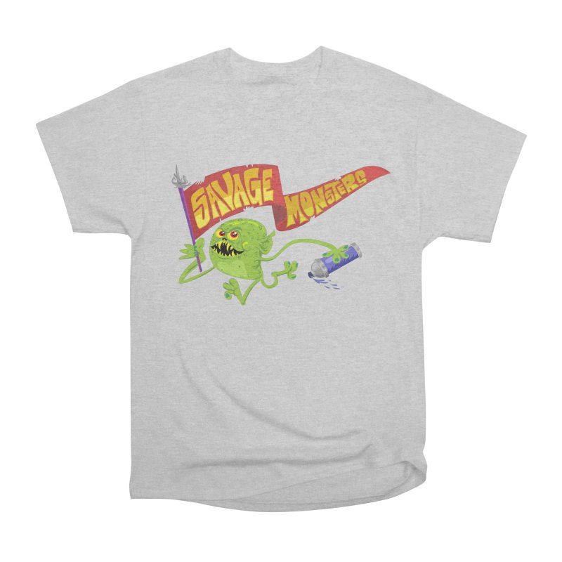 Clarence with Banner Women's Heavyweight Unisex T-Shirt by SavageMonsters's Artist Shop