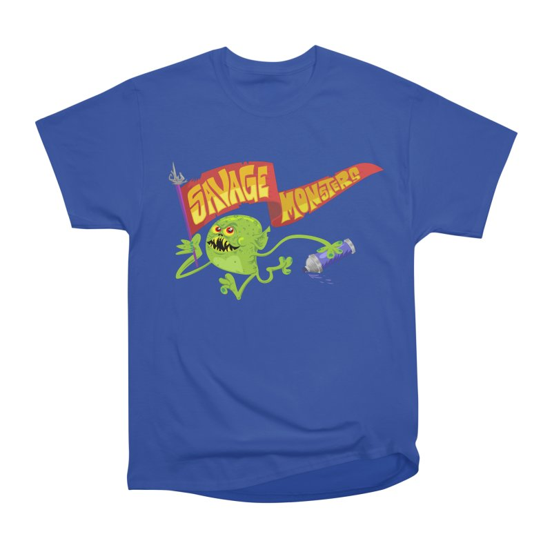 Clarence with Banner Men's Heavyweight T-Shirt by SavageMonsters's Artist Shop