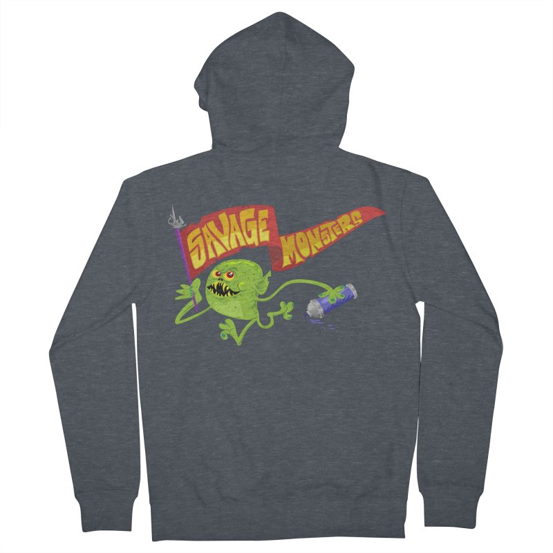 Clarence with Banner Men's French Terry Zip-Up Hoody by SavageMonsters's Artist Shop