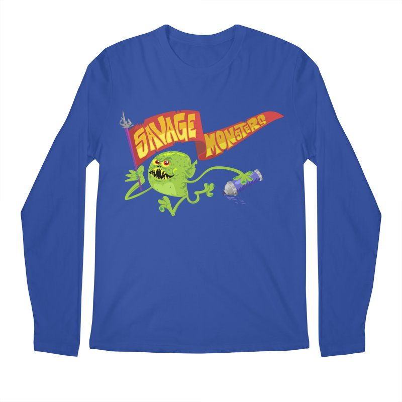 Clarence with Banner Men's Regular Longsleeve T-Shirt by SavageMonsters's Artist Shop