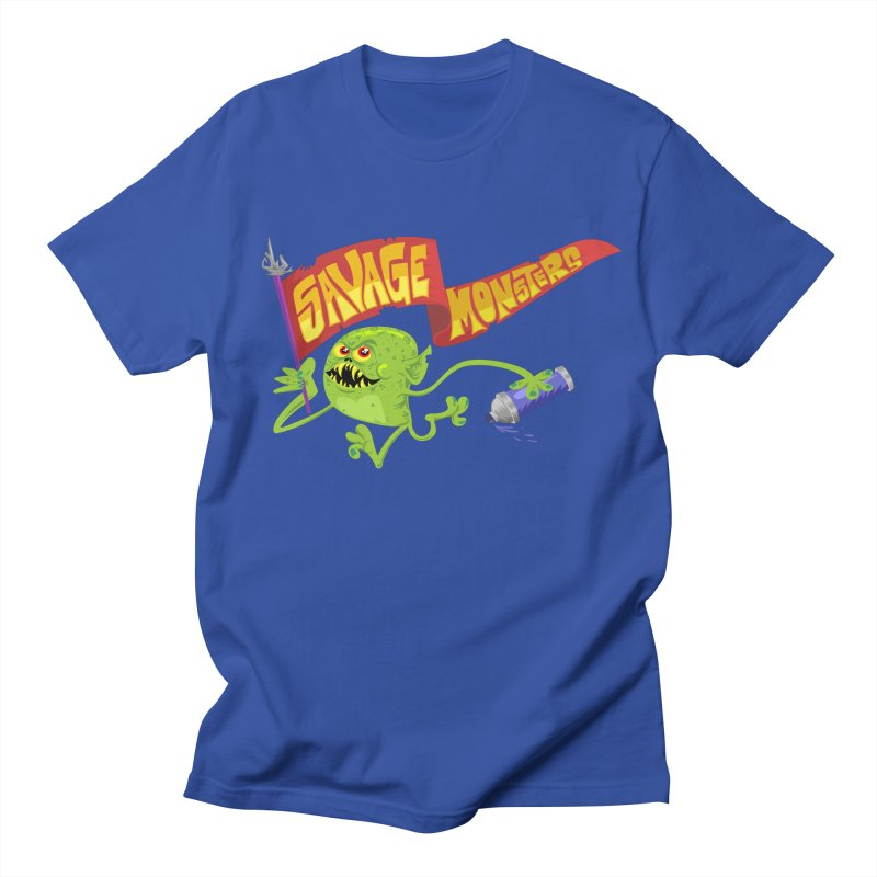 Clarence with Banner Women's Regular Unisex T-Shirt by SavageMonsters's Artist Shop