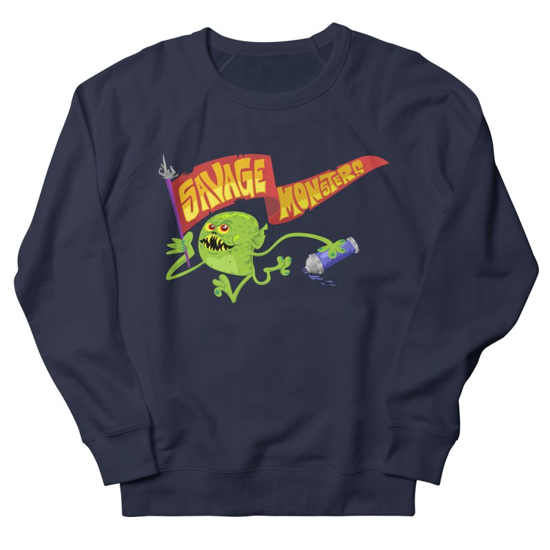 Clarence with Banner Women's French Terry Sweatshirt by SavageMonsters's Artist Shop