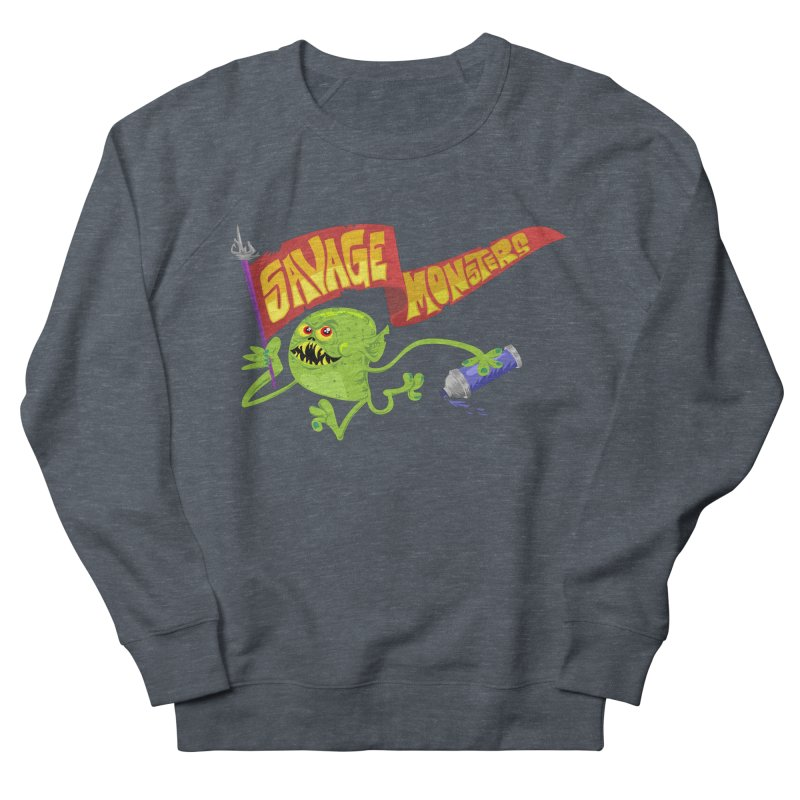 Clarence with Banner Men's French Terry Sweatshirt by SavageMonsters's Artist Shop