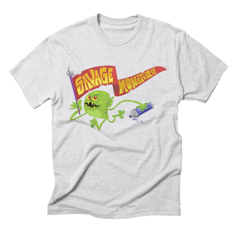 Clarence with Banner Men's Triblend T-Shirt by SavageMonsters's Artist Shop