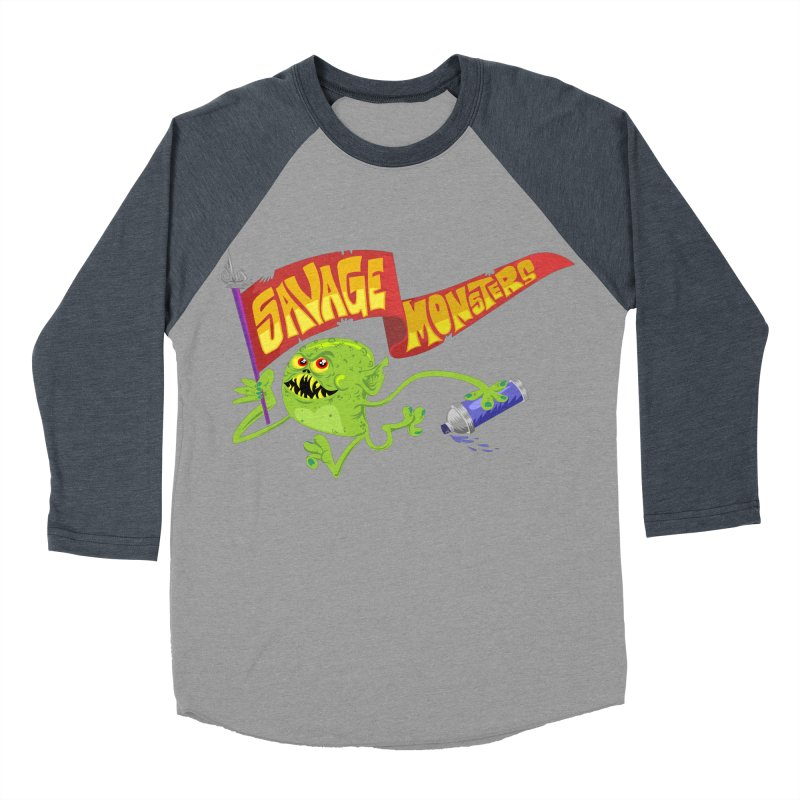 Clarence with Banner Men's Baseball Triblend Longsleeve T-Shirt by SavageMonsters's Artist Shop