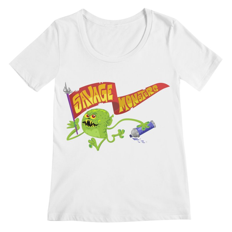 Clarence with Banner Women's Regular Scoop Neck by SavageMonsters's Artist Shop