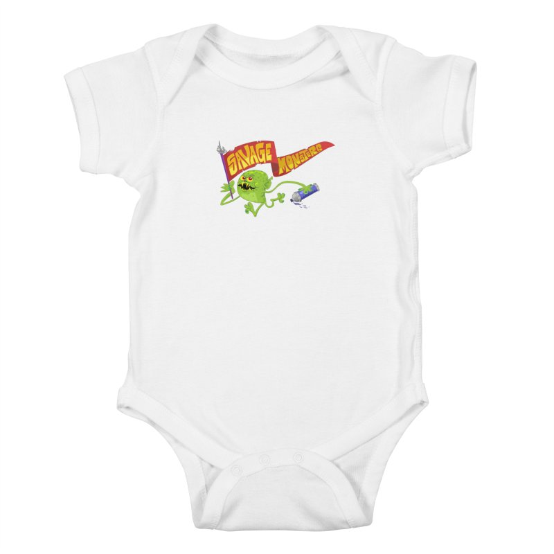 Clarence with Banner Kids Baby Bodysuit by SavageMonsters's Artist Shop