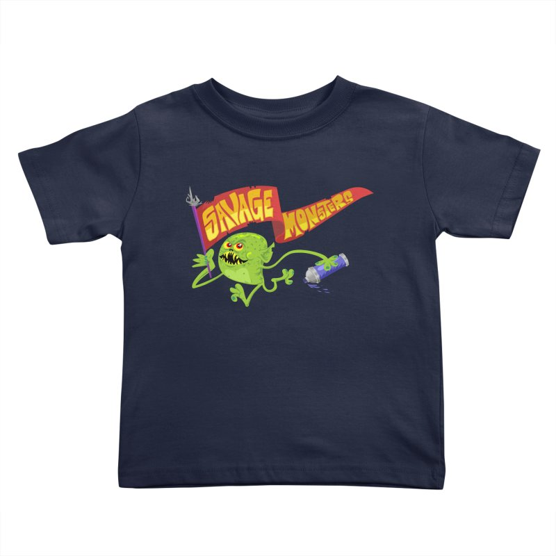 Clarence with Banner Kids Toddler T-Shirt by SavageMonsters's Artist Shop