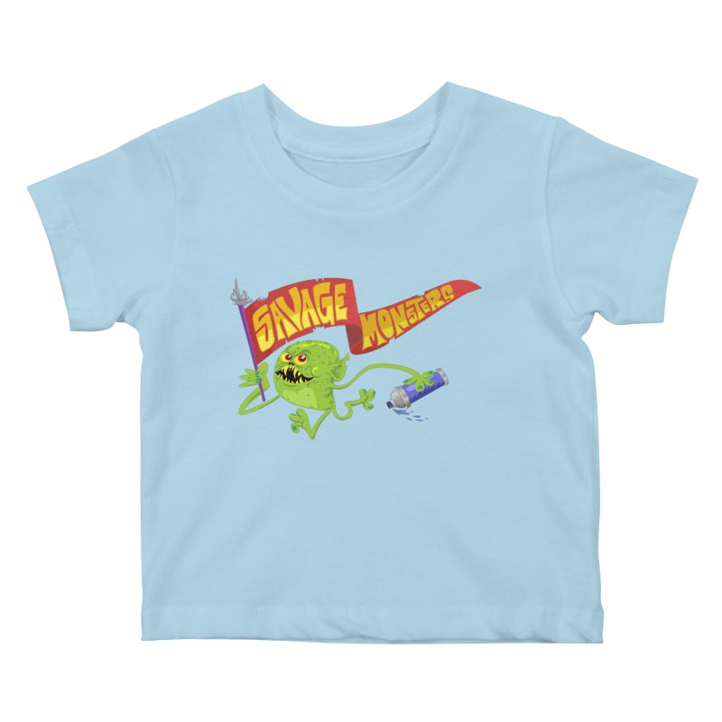 Clarence with Banner Kids Baby T-Shirt by SavageMonsters's Artist Shop
