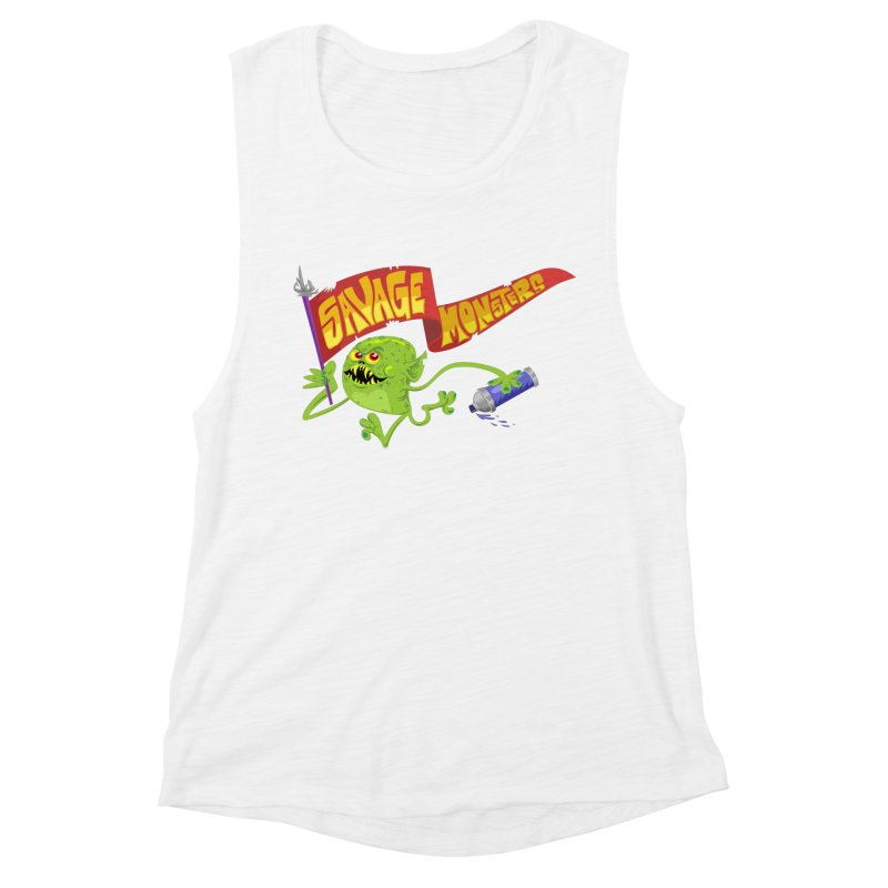 Clarence with Banner Women's Muscle Tank by SavageMonsters's Artist Shop