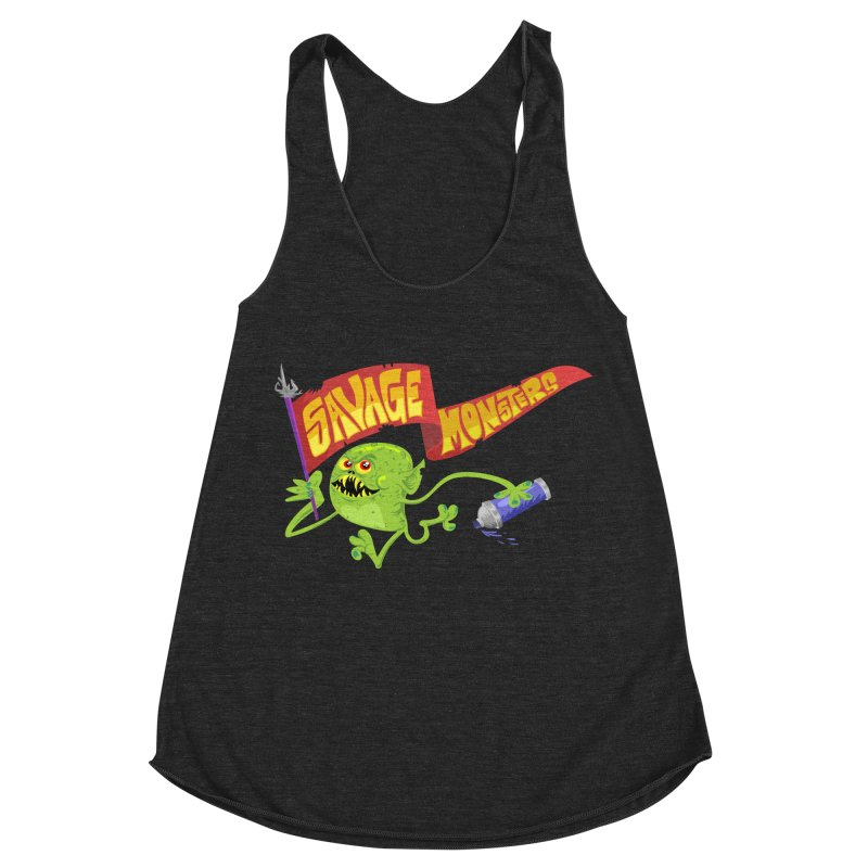 Clarence with Banner Women's Racerback Triblend Tank by SavageMonsters's Artist Shop