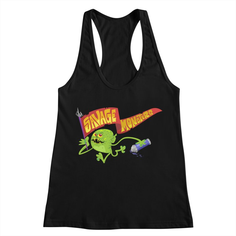 Clarence with Banner Women's Racerback Tank by SavageMonsters's Artist Shop