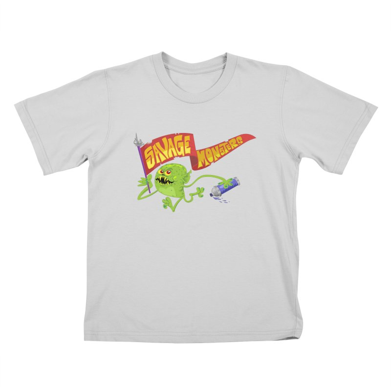 Clarence with Banner Kids T-Shirt by SavageMonsters's Artist Shop