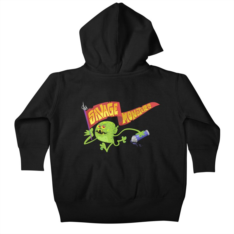 Clarence with Banner Kids Baby Zip-Up Hoody by SavageMonsters's Artist Shop