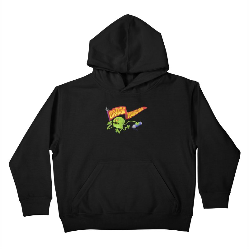 Clarence with Banner Kids Pullover Hoody by SavageMonsters's Artist Shop