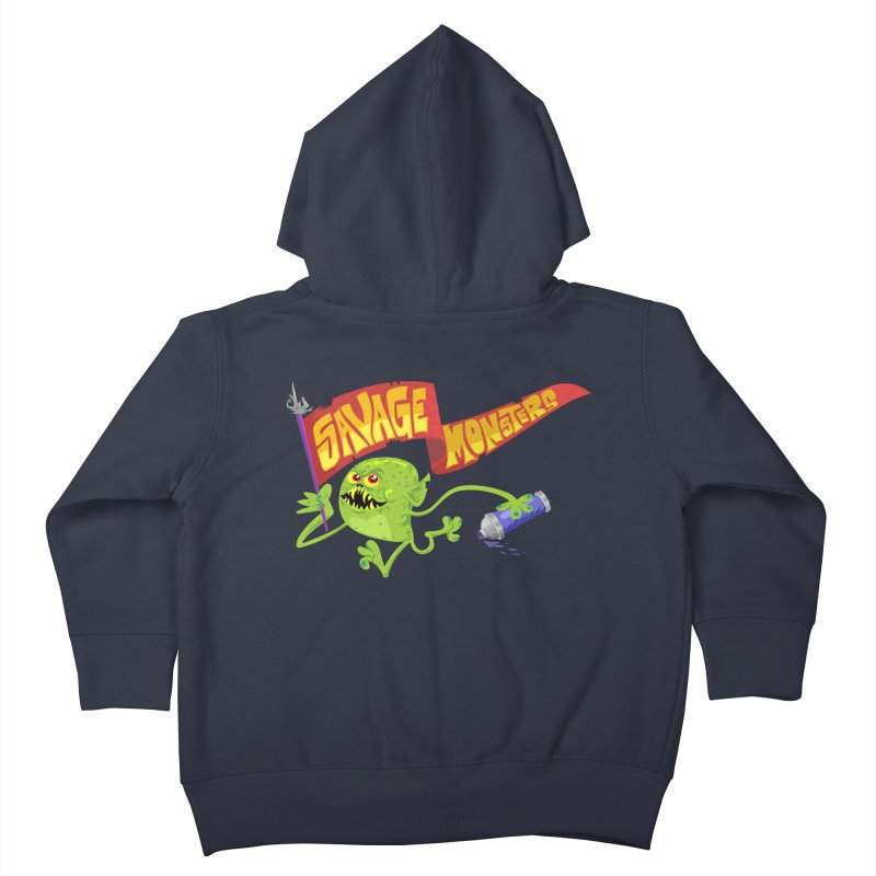 Clarence with Banner Kids Toddler Zip-Up Hoody by SavageMonsters's Artist Shop