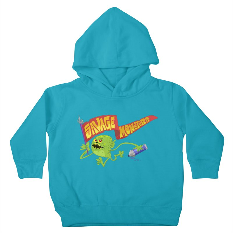 Clarence with Banner Kids Toddler Pullover Hoody by SavageMonsters's Artist Shop