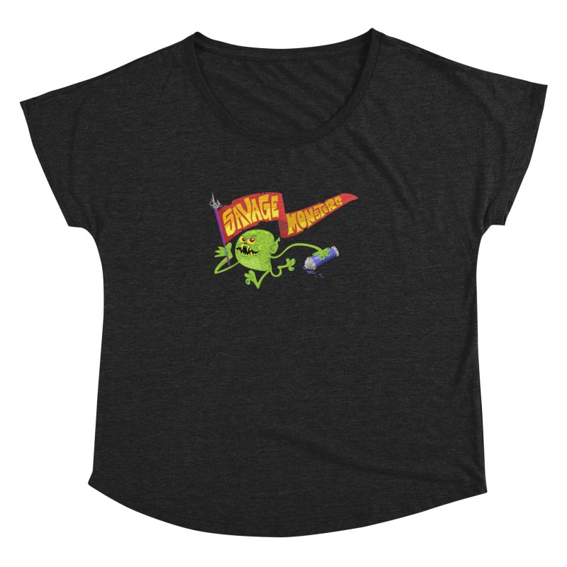 Clarence with Banner Women's Dolman Scoop Neck by SavageMonsters's Artist Shop
