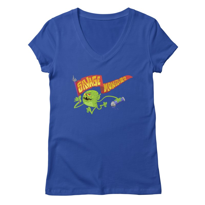 Clarence with Banner Women's Regular V-Neck by SavageMonsters's Artist Shop