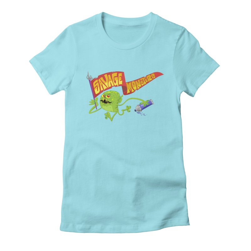 Clarence with Banner Women's Fitted T-Shirt by SavageMonsters's Artist Shop