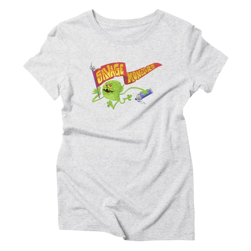 Clarence with Banner Women's Triblend T-Shirt by SavageMonsters's Artist Shop