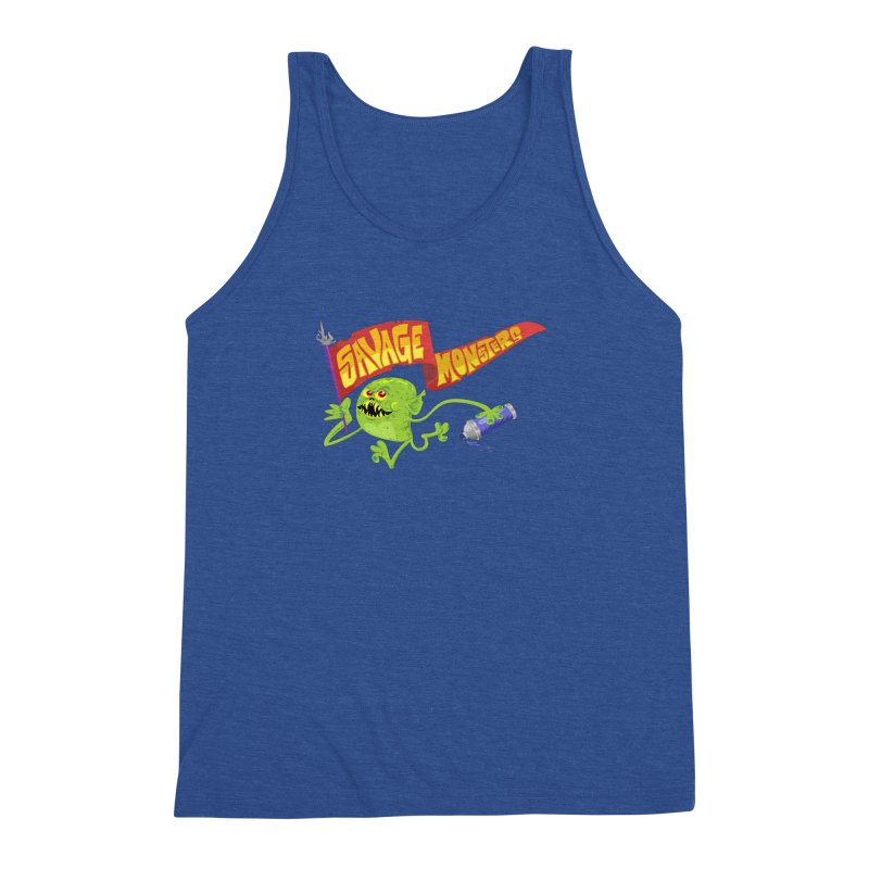 Clarence with Banner Men's Triblend Tank by SavageMonsters's Artist Shop