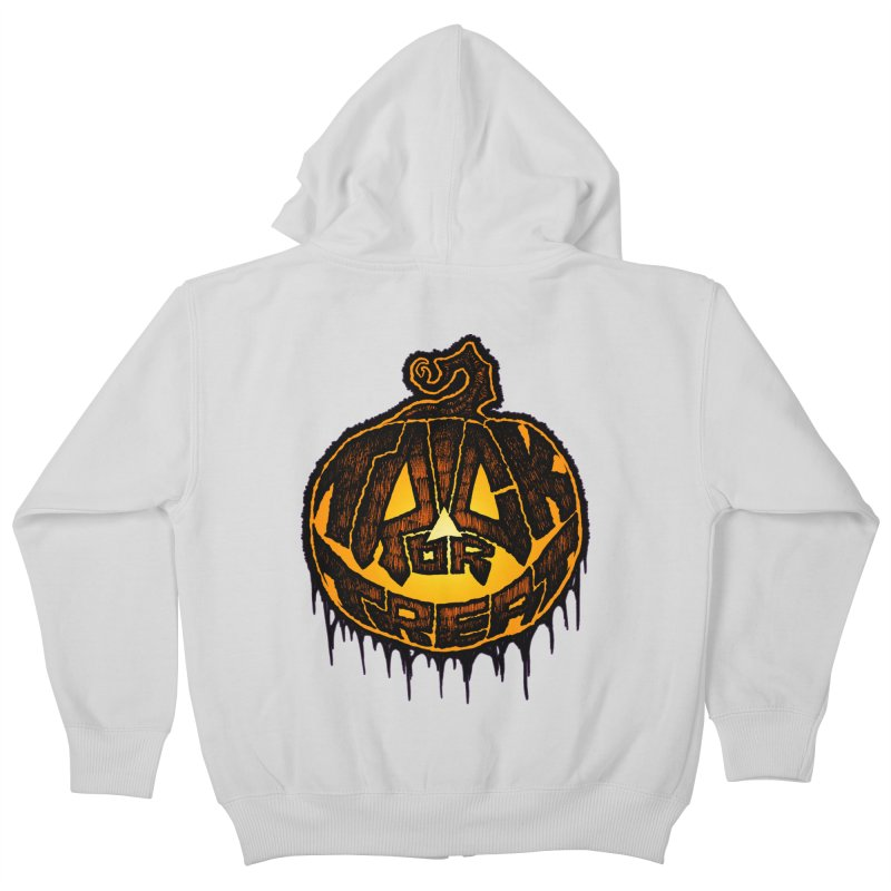 Trick or Treat Kids Zip-Up Hoody by The Dark Art of Chad Savage