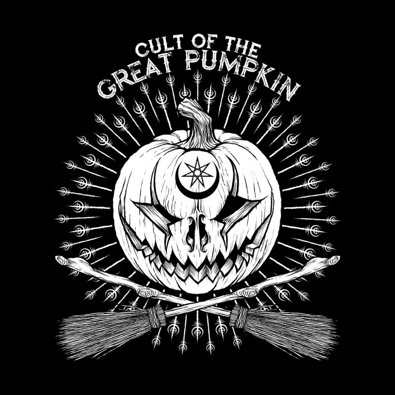 Cult of the Great Pumpkin Crossed Brooms by The Dark Art of Chad Savage