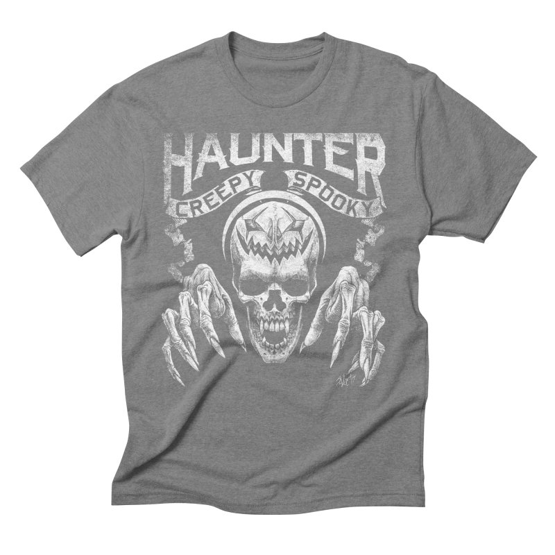 HAUNTER Men's Triblend T-shirt by The Dark Art of Chad Savage