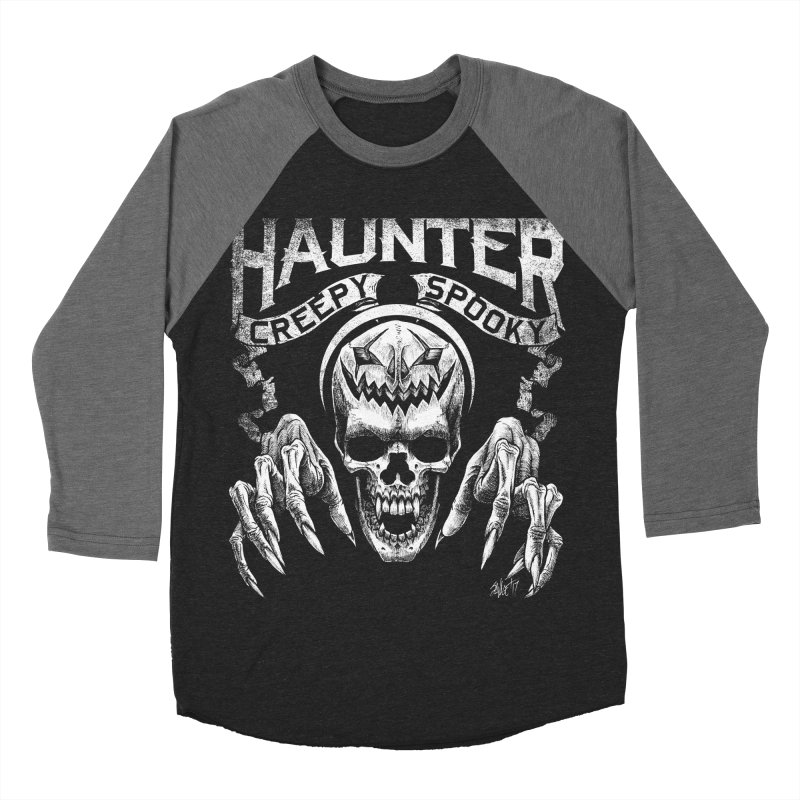 HAUNTER Men's Baseball Triblend T-Shirt by The Dark Art of Chad Savage