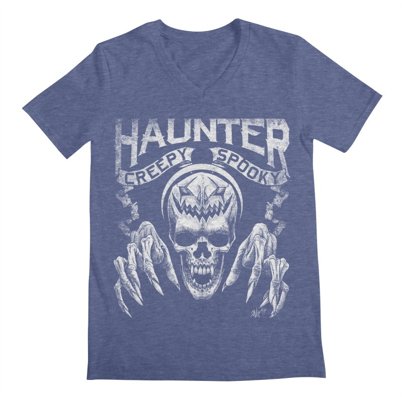 HAUNTER Men's V-Neck by The Dark Art of Chad Savage