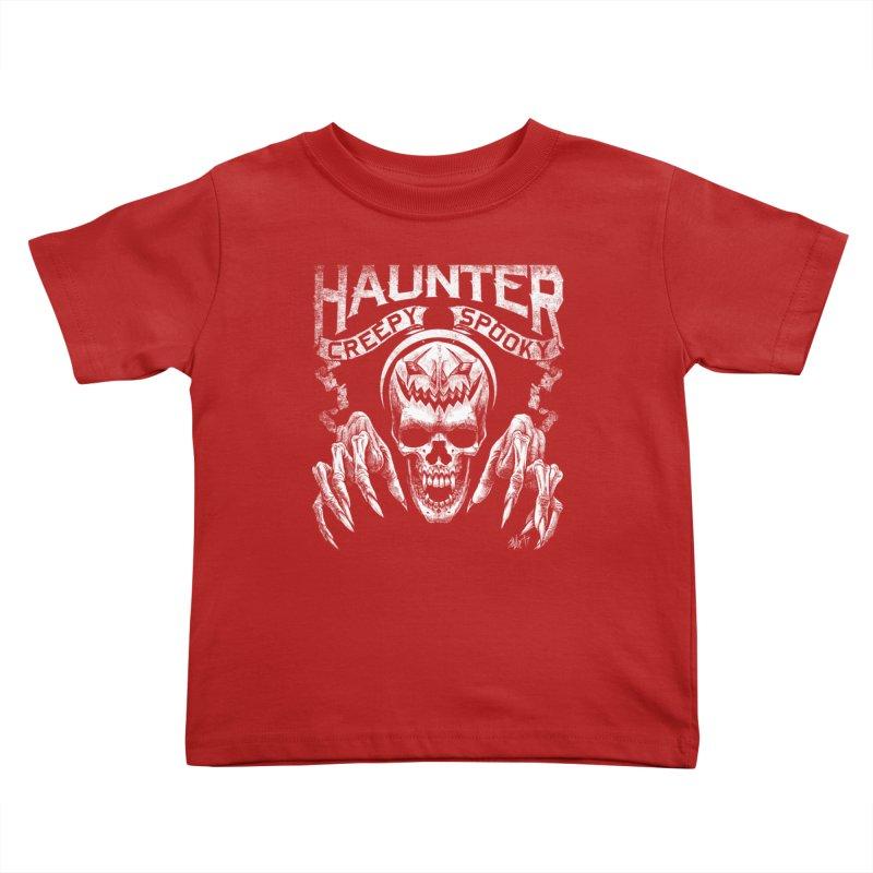 HAUNTER Kids Toddler T-Shirt by The Dark Art of Chad Savage
