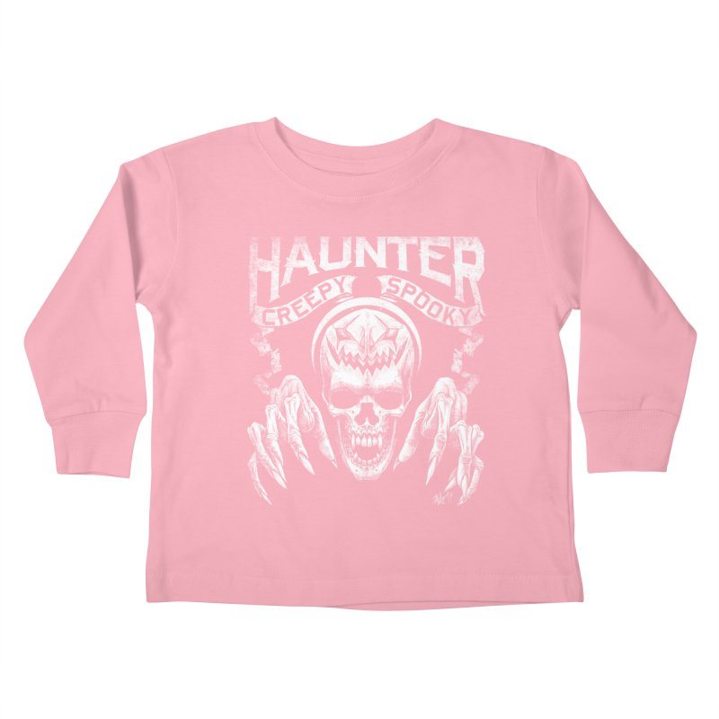 HAUNTER Kids Toddler Longsleeve T-Shirt by The Dark Art of Chad Savage