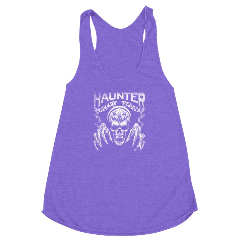 HAUNTER Women's Racerback Triblend Tank by The Dark Art of Chad Savage
