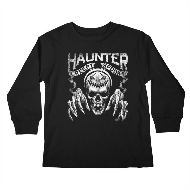 HAUNTER Kids Longsleeve T-Shirt by The Dark Art of Chad Savage