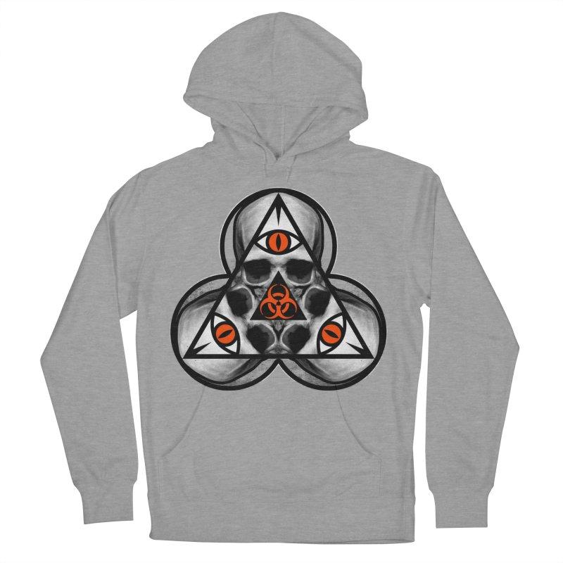 Biohazard TriSkull Women's Pullover Hoody by The Dark Art of Chad Savage