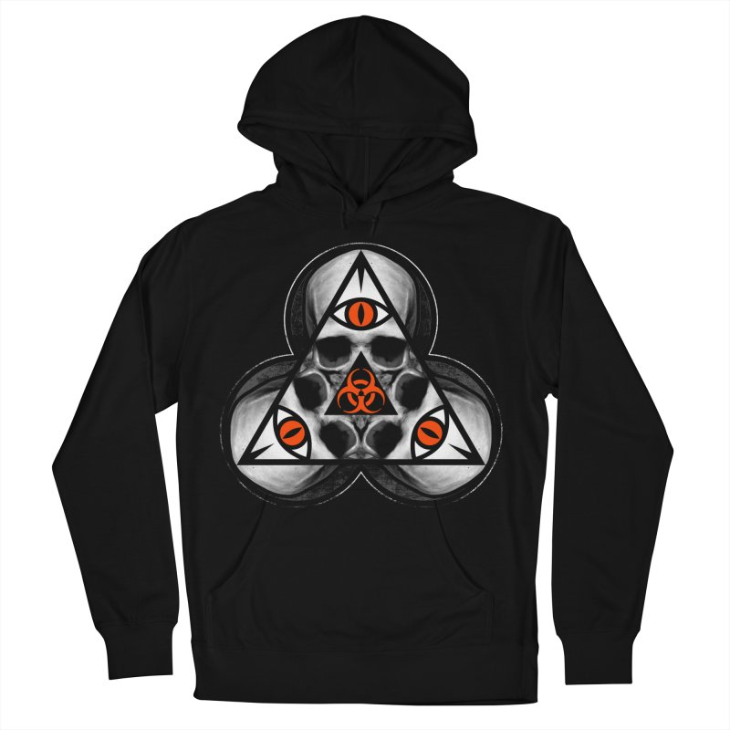 Biohazard TriSkull Women's French Terry Pullover Hoody by The Dark Art of Chad Savage