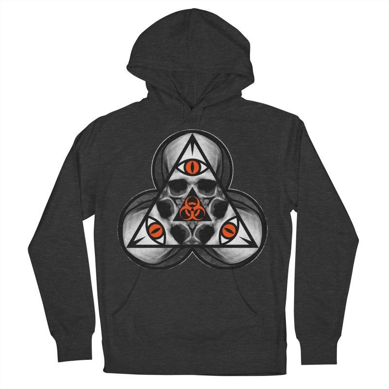 Biohazard TriSkull Men's Pullover Hoody by The Dark Art of Chad Savage