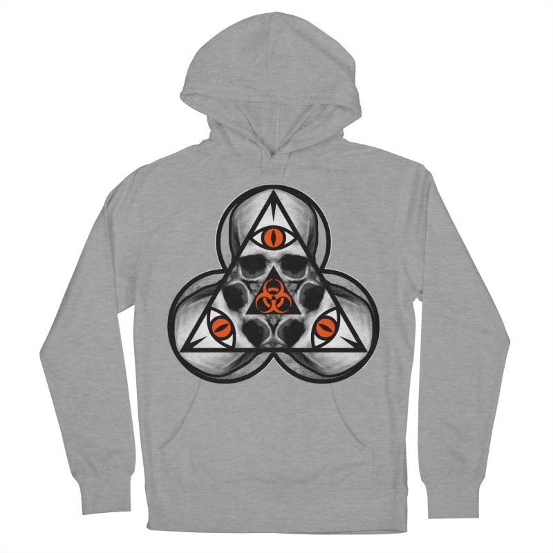 Biohazard TriSkull Men's French Terry Pullover Hoody by The Dark Art of Chad Savage