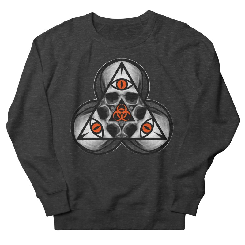 Biohazard TriSkull Women's Sweatshirt by The Dark Art of Chad Savage