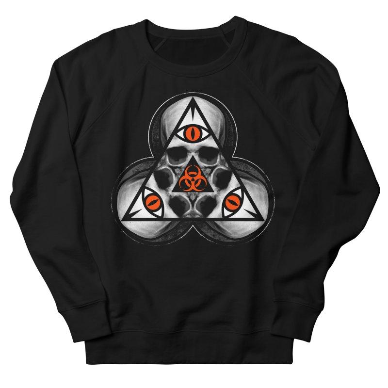 Biohazard TriSkull Women's Sweatshirt by The Dark Art of Chad Savage