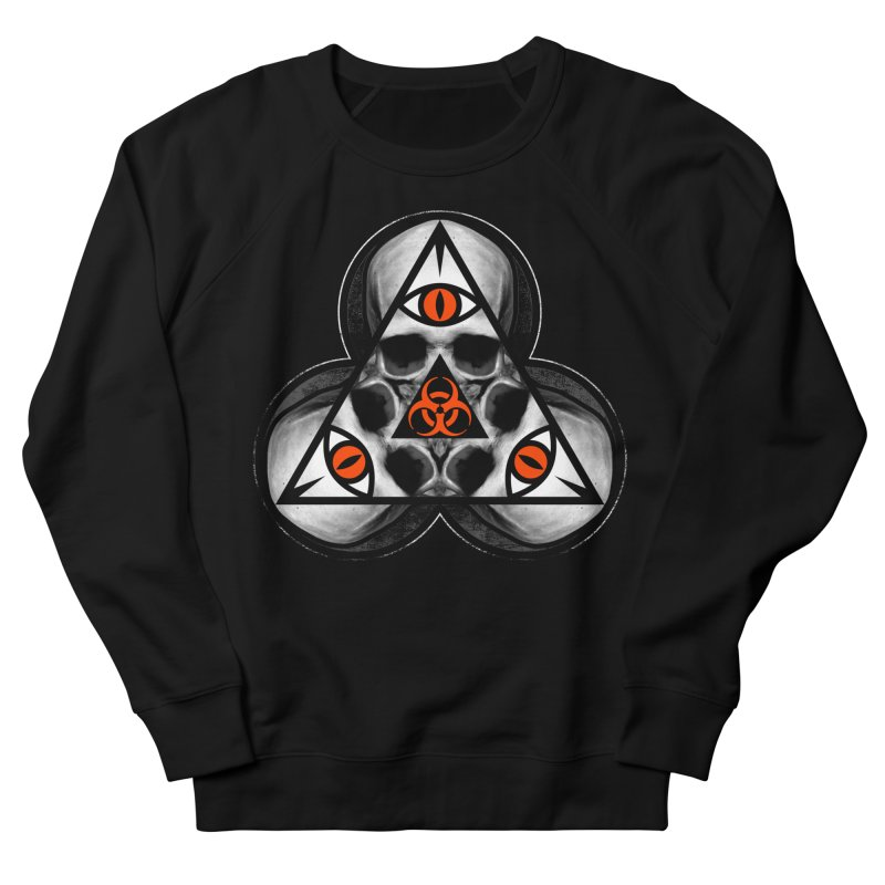 Biohazard TriSkull Men's Sweatshirt by The Dark Art of Chad Savage