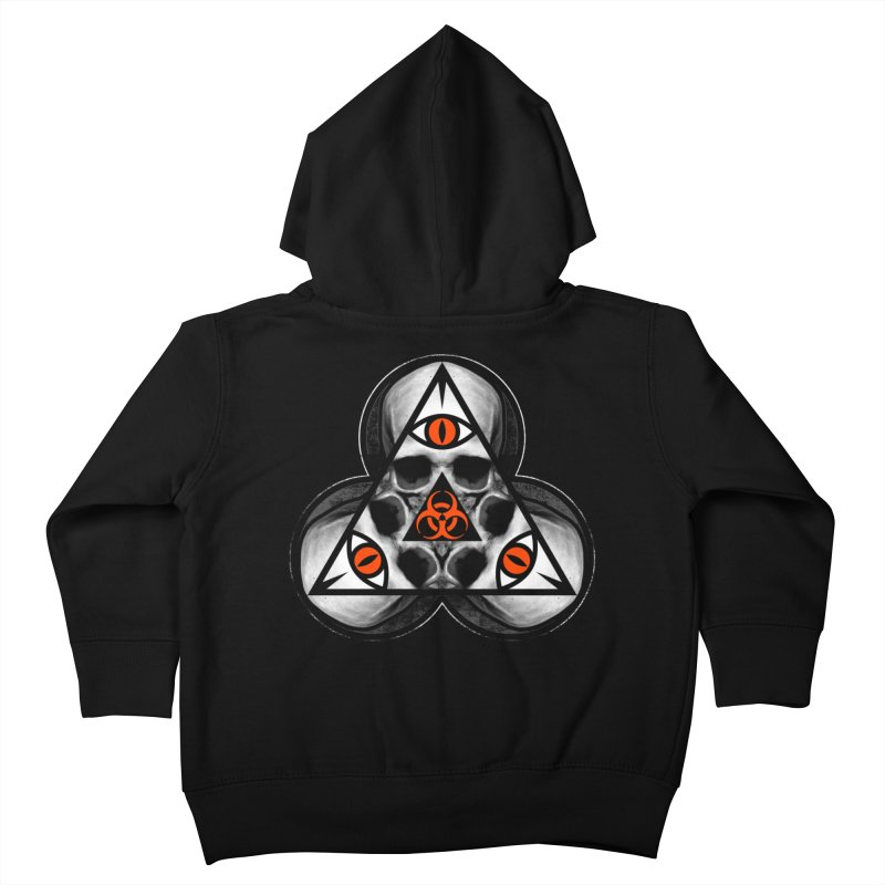 Biohazard TriSkull Kids Toddler Zip-Up Hoody by The Dark Art of Chad Savage