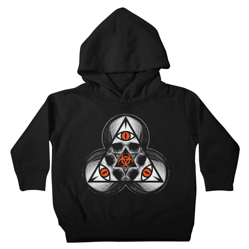 Biohazard TriSkull Kids Toddler Pullover Hoody by The Dark Art of Chad Savage