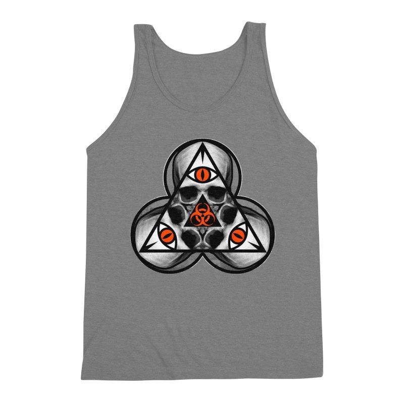 Biohazard TriSkull Men's Triblend Tank by The Dark Art of Chad Savage